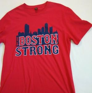 NWOT Boston Strong Men's Medium Shirt Color is Red